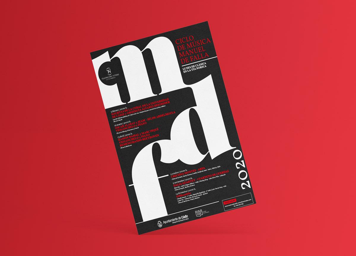 Programa anverso - Campaña de publicidad - Ciclo de música - Manuel de Falla 2020