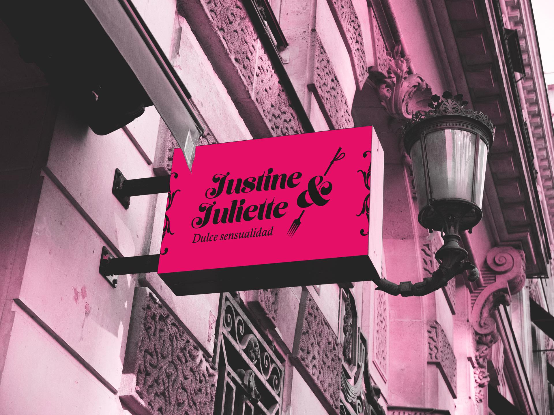 Cartel 2 - Propuesta de diseño de identidad visual corporativa de Confitería Justine y Juliette