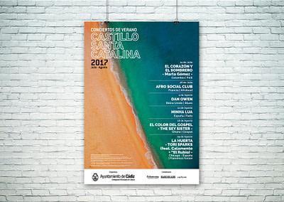 Campaña de publicidad – Conciertos de Verano – Castillo Santa Catalina (Julio-Agosto 2017)