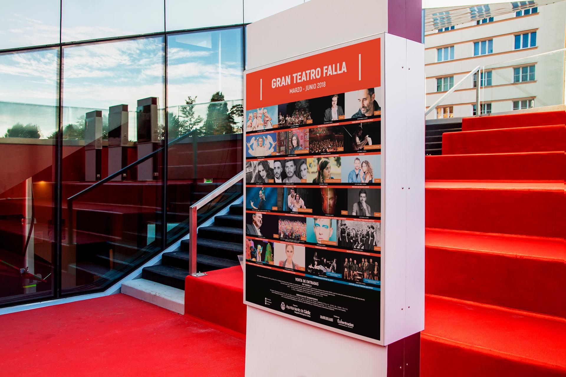 Cartel - Campaña de publicidad - Gran Teatro Falla (Marzo - Junio 2018)