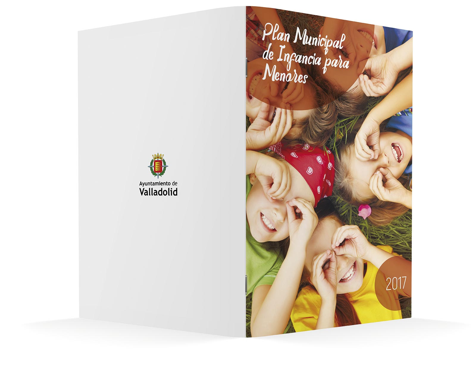 Diseño folleto exterior - Diseño editorial - Plan Municipal de Infancia para Menores 2017