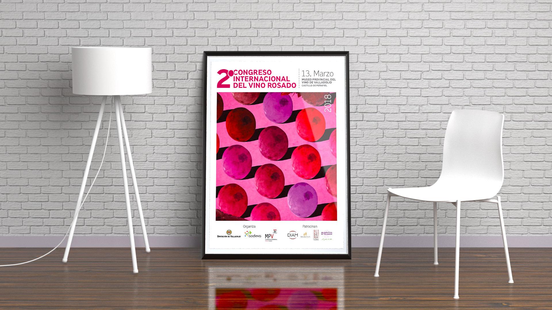 Cartel - Campaña de publicidad - 2º Congreso Internacional del Vino Rosado