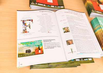 """Programa 6 - Diseño editorial - Maquetación de los soportes """"Feria del Libro de Valladolid 2019"""""""